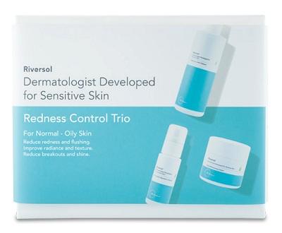 redness control trio for oily skin