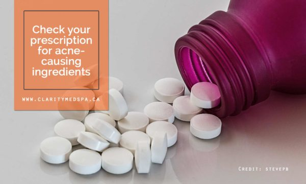 Check your prescription for acne-causing ingredients