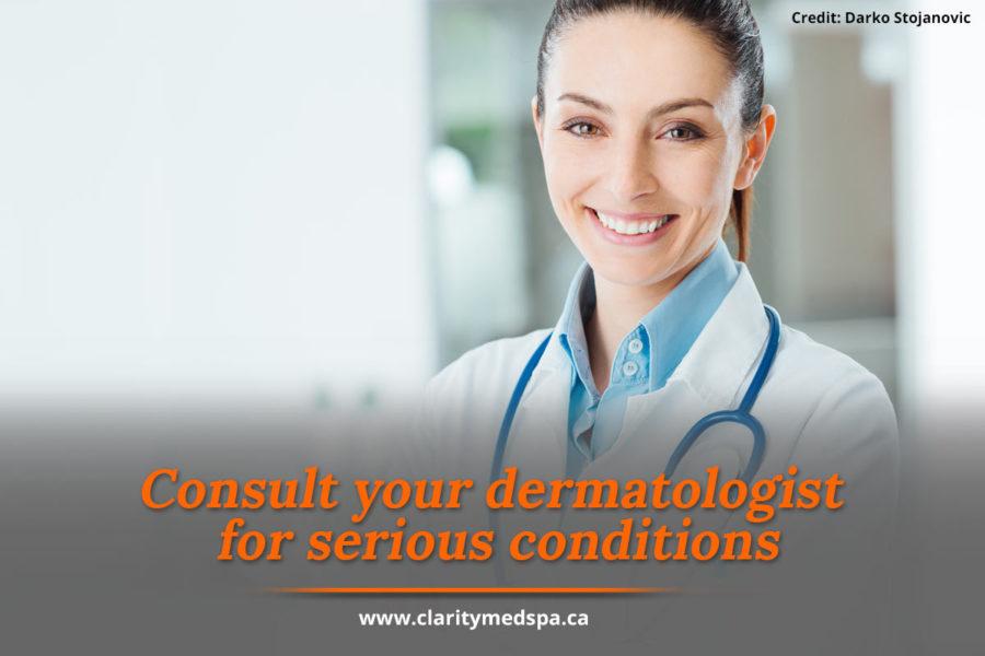 consult dermatologist