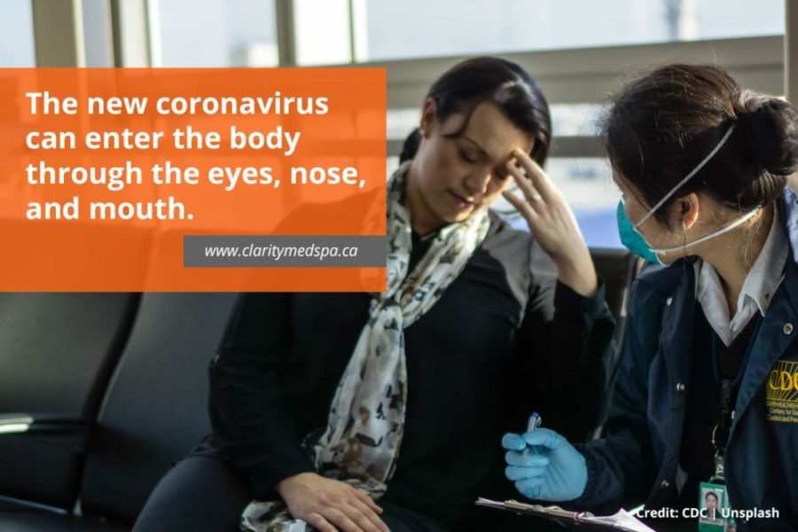 new coronavirus can enter the body
